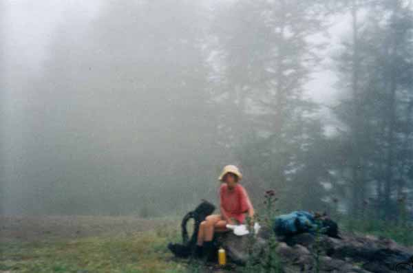 Walking in France: Bread and cheese in the fog near the Col de Barrancq