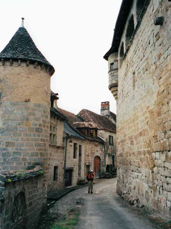 Walking in France: Curemont (with the missed GR sign on the drain)