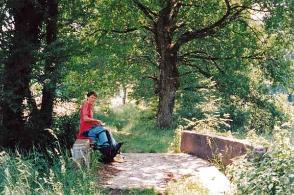 Walking in France: Lunch
