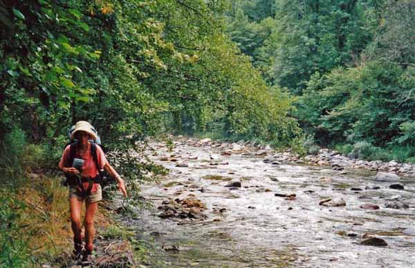 Walking in France: Following the river Aspe downstream