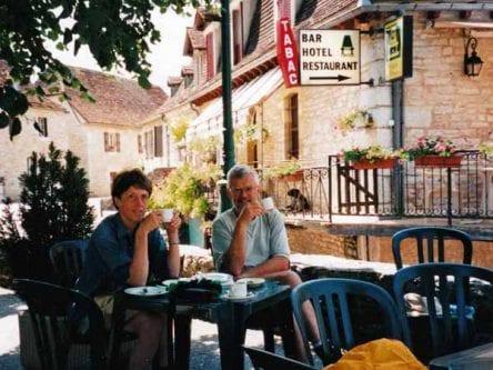 Walking in France: Coffee in Loubressac