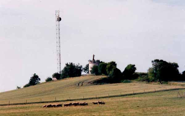 Walking in France: Jesus and the mobile phone tower
