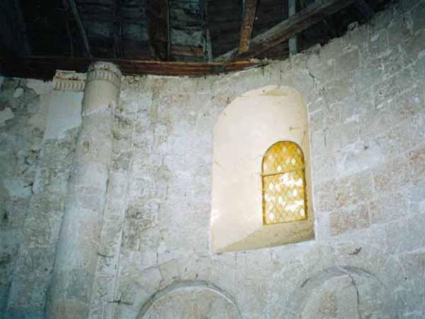 Walking in France: Golden light inside the chapel of Sainte Germaine