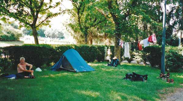 Walking in France: Camping at Condom
