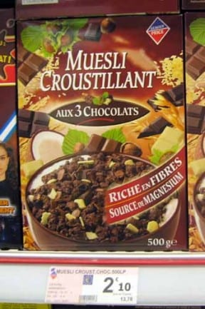 Walking in France: Three chocolate muesli
