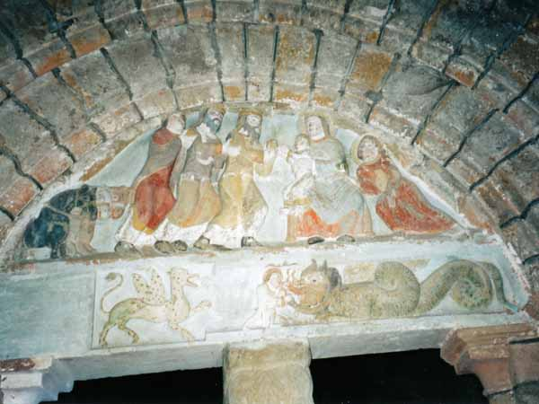 Walking in France: The painted tympanum at Saillac