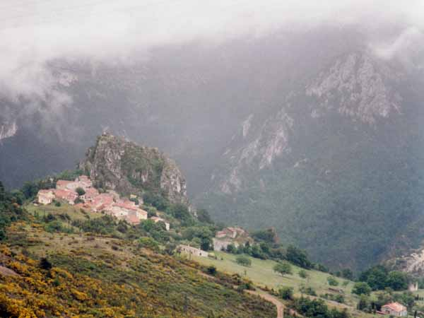 Walking in France: Looking down on Rougon