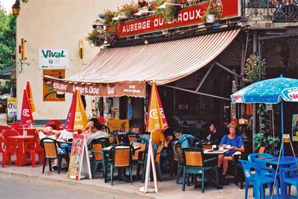 Walking in France: A welcome coffee stop in la Trivalle