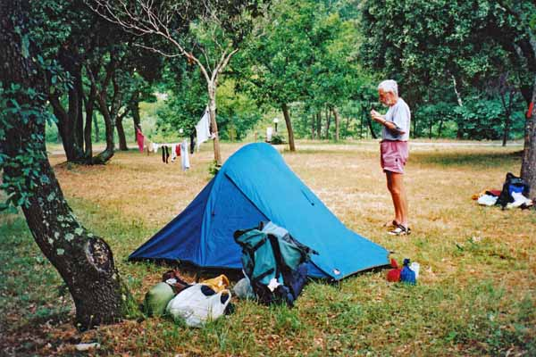 Walking in France: Camping at Olargues