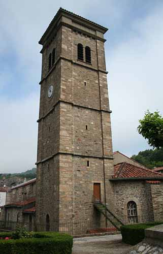 Walking in France: Church in Labastide-Rouairoux