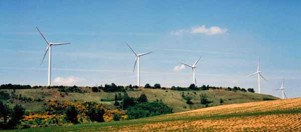 Walking in France: Wind farm near Avignonet-Lauragais