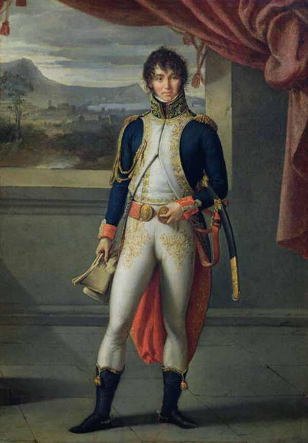 Walking in France: Joachim Murat (by Jean Baptiste Joseph Wicar)