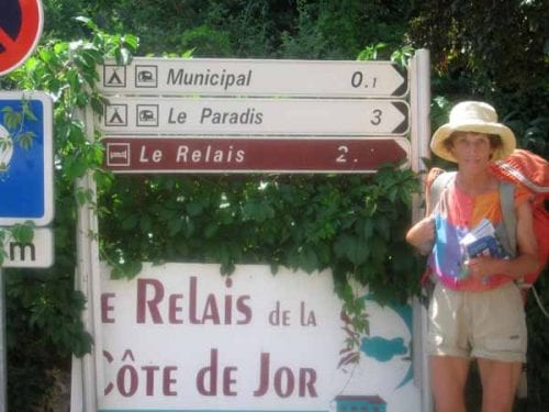 Walking in France: Oh happy days - the obscured camping sign revealed