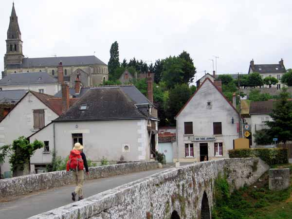 Walking in France: Returning to the village for breakfast in the hotel