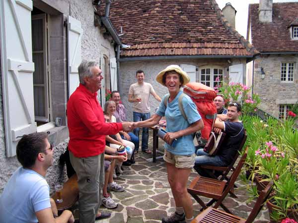 Walking in France: Making friends with the locals in Curemonte
