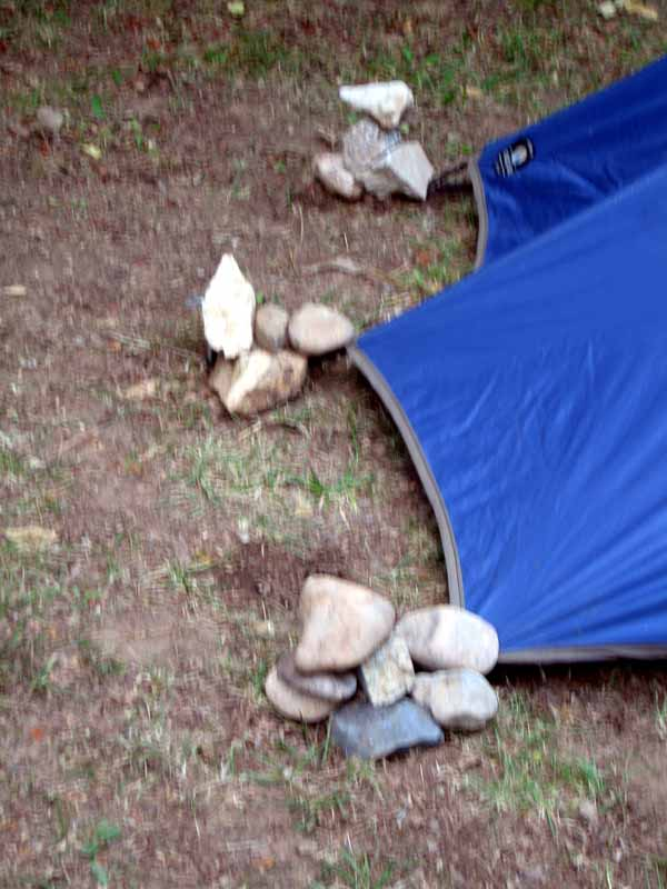 Walking in France: The rock-hard camping ground at Saint-Cirq-Lapopie