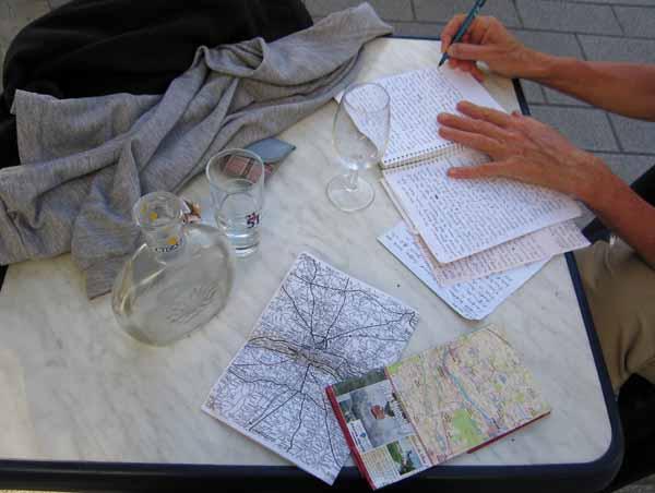 Walking in France: Apéritifs and diary writing at Bar Balzac