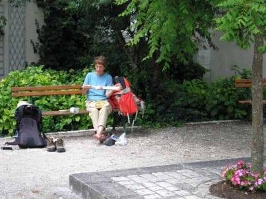 Walking in France: Lunch at Sainte-Catherine-de-Fierbois