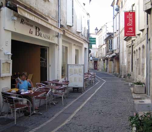 Walking in France: A morning coffee
