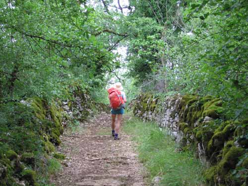 Walking in France: On the causse approaching the Gouffre de Padirac