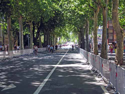Walking in France: The scene just after the peloton had passed!