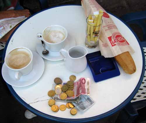 Walking in France: Coffee and small change, Castres