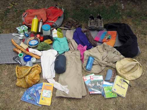 Walking in France: The load that Jenny carried for 51 days