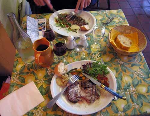Walking in France: Dinner in Montrichard