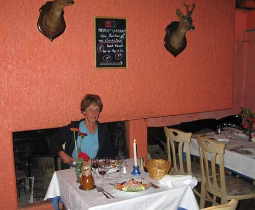 Walking in France: Dinner in Dissay