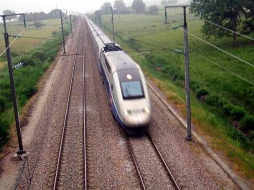 Walking in France: TGV speeding through Burgundy