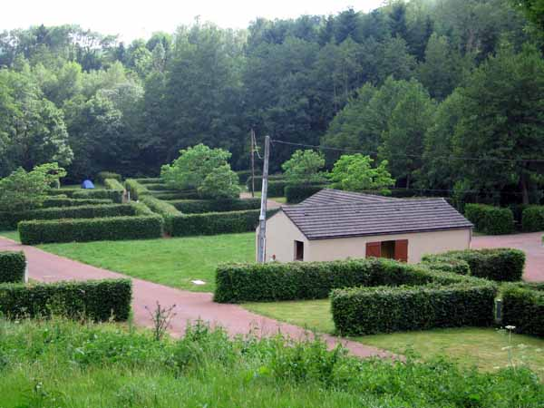 Walking in France: Our little tent lost in the Anost camping ground