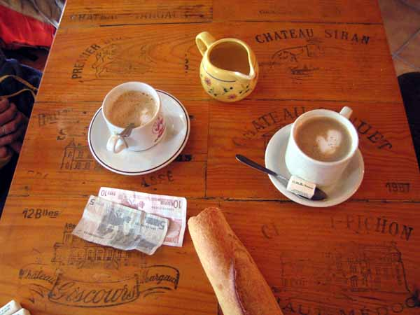 Walking in France: Afternoon coffees