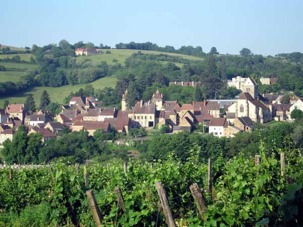 Walking in France: Looking back to Couches