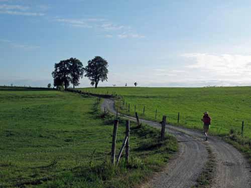 Walking in France: Farmland in Correze