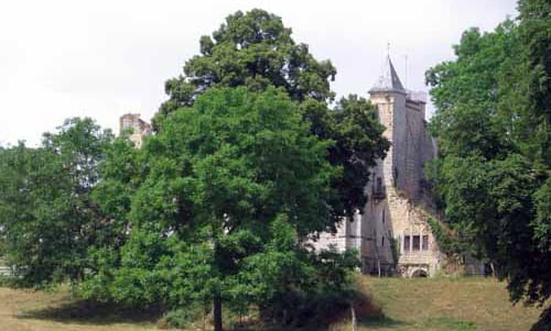 Walking in France: Ruined abbey on the outskirts of Donzy