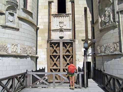 Walking in France: The drawbridge of the château