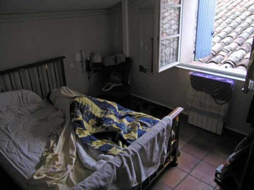 Walking in France: A well earned afternoon nap in a real bed