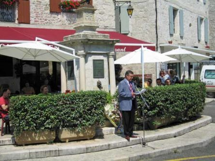 Walking in France: The mayor making his Bastille Day speech