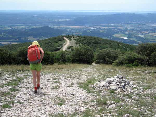 Walking in France: On the way down