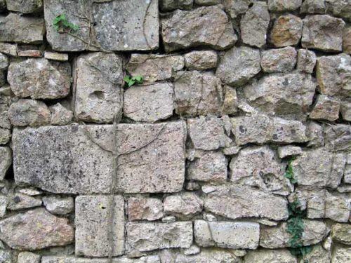Walking in France: Part of la Faisanterie's beautiful drystone wall