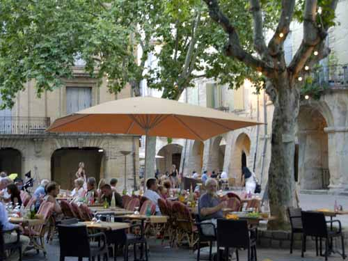 Walking in France: Dining in the Place des Herbes