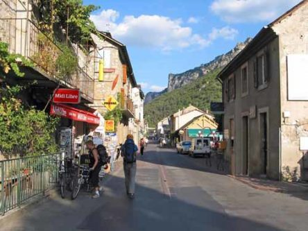 Walking in France: The main street of le Rozier