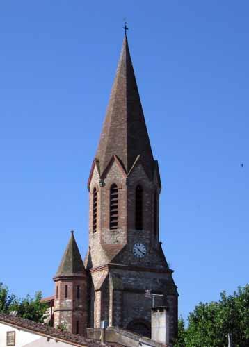Walking in France: Octagonal spire, Marssac-sur-Tarn