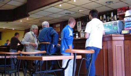 Walking in France: Some locals in the bar, Lafrançaise
