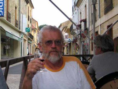Walking in France: Sampling a pre-dinner red