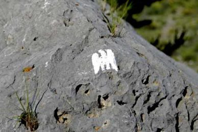 Walking in France: Route of Napoléon track marker