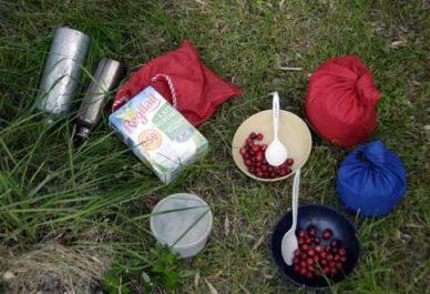 Walking in France: The makings of first breakfast