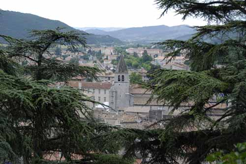 Walking in France: Looking down on Sisteron from the citadel