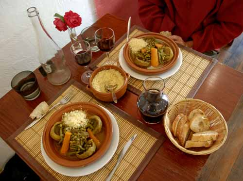 Walking in France: Moroccan tajines for dinner