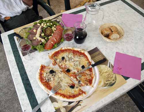 Walking in France: Our humble dinner in Rosans